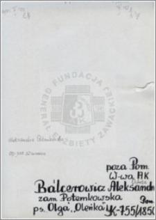 Balcerowicz Aleksandra