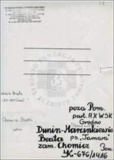 Dunin-Marcinkiwiecz Beata