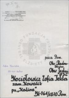 Kociołowicz Zofia Tekla