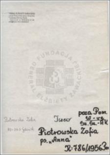 Piotrowska Zofia