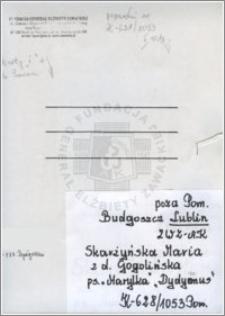 Skarżyńska Maria