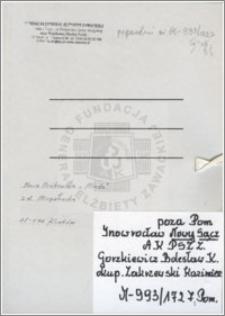 Gorzkiewicz Bolesław