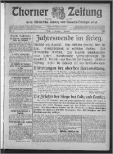 Thorner Zeitung 1915, Nr. 1 1 Blatt