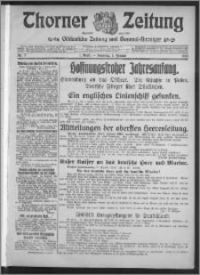 Thorner Zeitung 1915, Nr. 2 1 Blatt