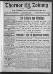 Thorner Zeitung 1915, Nr. 3 1 Blatt