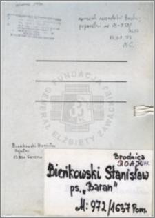 Bieńkowski Stanisław