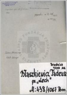 Błaszkiewicz Tadeusz
