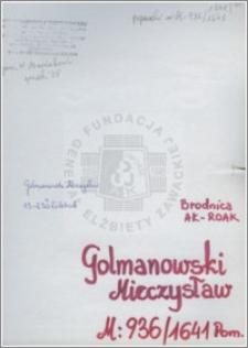 Golmanowski Mieczysław