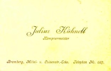 Wizytówka Juliusa Küchnela