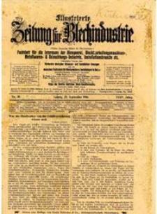 Ilustrierte Zeitung für Blechindustrie 1906. No. 39