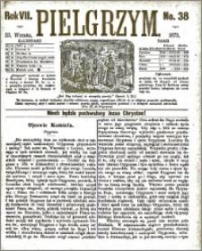 Pielgrzym, pismo religijne dla ludu 1875 nr 38
