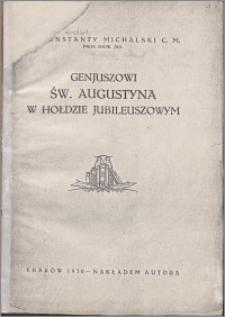 Geniuszowi św. Augustyna w hołdzie jubileuszowym