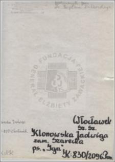 Klonowska Jadwiga