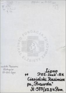 Ciesielski Kazimierz
