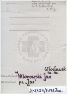 Klonowski Jan