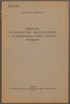 """Nieznane wydawnictwo grunwaldzkie i """"Staroświecka pieśń o bitwie pruskiej"""""""