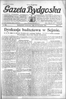 Gazeta Bydgoska 1926.11.18 R.5 nr 266