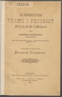 Korrektura prawa i procesu polskiego