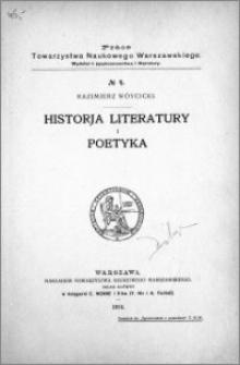 Historja literatury i poetyka
