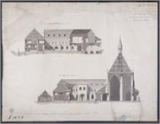 Zeichnung von dem zu Thorn belegenen Dominicaner Kloster : Durchschnitt nach a.b. : Durchschnitt c.d.