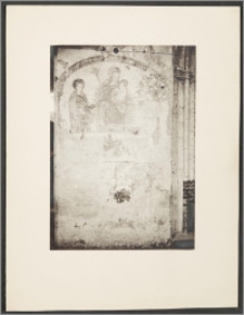 [Toruń, Madonna z Dzieciątkiem w otoczeniu św. Doroty i św. Sebastiana - fresk z kościoła św. Jakuba]