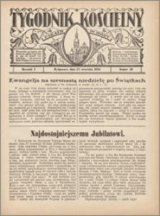 Tygodnik Kościelny Parafii św. Trójcy 1930.09.28 nr 39