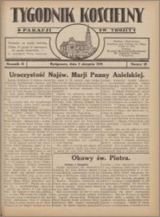 Tygodnik Kościelny Parafii św. Trójcy 1931.08.02 nr 28