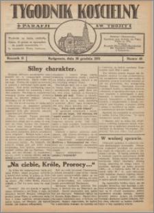 Tygodnik Kościelny Parafii św. Trójcy 1931.12.20 nr 48