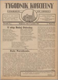 Tygodnik Kościelny Parafii św. Trójcy 1931.12.27 nr 49