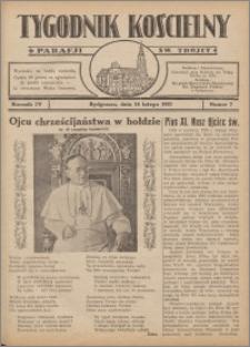 Tygodnik Kościelny Parafii św. Trójcy 1932.02.14 nr 7