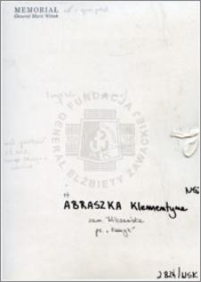 Abraszka Klementyna