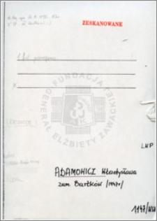 Adamowicz Władysława