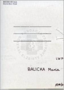 Balicka Maria