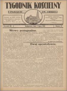 Tygodnik Kościelny Parafii św. Trójcy 1932.07.03 nr 27