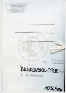 Bańkowska Cyplik Nina