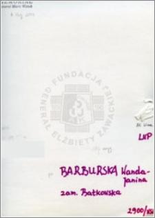 Barburska Wanda Janina