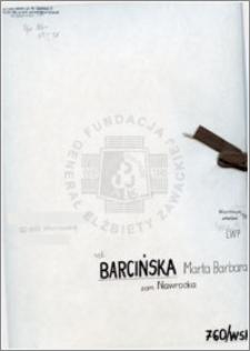 Barcińska Marta Barbara