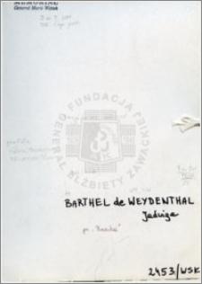 Barthel de Weydenthal Jadwiga