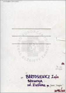 Bartosiewicz Błaszczyk Zofia