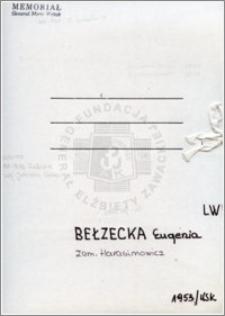 Bełzecka Eugenia