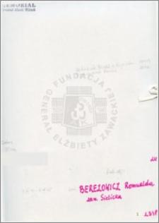 Berezowicz Romualda