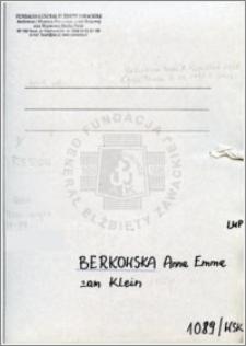 Berkowska Anna Emma
