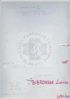Bibrowska Ludwika