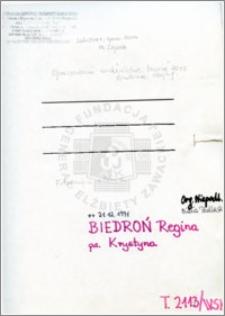 Biedroń Regina