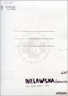 Bielawska Leonarda
