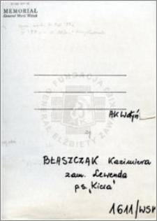 Błaszczak Kazimiera