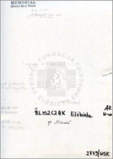 Bliszczak Elżbieta