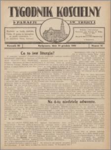 Tygodnik Kościelny Parafii św. Trójcy 1932.12.18 nr 51