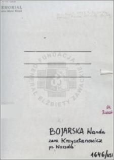 Bojarska Wanda