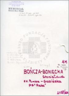 Bończa Boniecka Stanisława